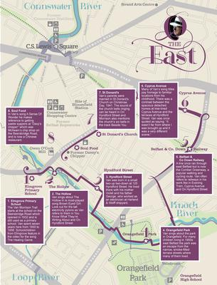 The Van Morrison tour map of Belfast