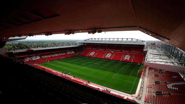 "A general view of Anfield following the opening of the new Main Stand, Liverpool. PRESS ASSOCIATION Photo. Picture date: Friday September 9, 2016. Photo credit should read: Peter Byrne/PA Wire. RESTRICTIONS: EDITORIAL USE ONLY No use with unauthorised audio, video, data, fixture lists, club/league logos or ""live"" services. Online in-match use limited to 75 images, no video emulation. No use in betting, games or single club/league/player publications."