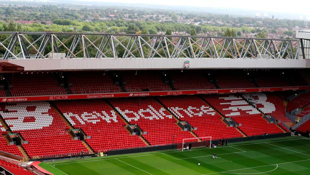 "A general view of new Main Stand, Anfield, Liverpool. PRESS ASSOCIATION Photo. Picture date: Friday September 9, 2016. Photo credit should read: Peter Byrne/PA Wire. RESTRICTIONS: EDITORIAL USE ONLY No use with unauthorised audio, video, data, fixture lists, club/league logos or ""live"" services. Online in-match use limited to 75 images, no video emulation. No use in betting, games or single club/league/player publications."