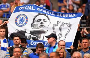 FILE - JUNE 02, 2013:  Jose Mourinho has been confirmed as Chelsea FC manager, returning to the club for a second term in charge, having left the club in 2007. LONDON, ENGLAND - APRIL 14:  Chelsea fans hold up a banner prior to the FA Cup with Budweiser Semi Final match between Chelsea and Manchester City at Wembley Stadium on April 14, 2013 in London, England.  (Photo by Shaun Botterill/Getty Images)