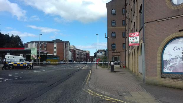 Derry's Strand Road has been closed to traffic. Photo credit: John Boyle