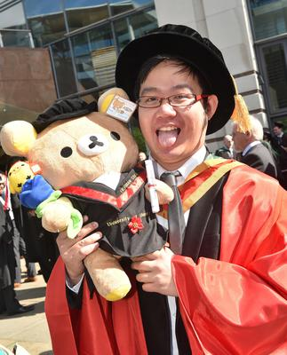 Ulster University Graduations-Waterfront Hall 03-07-15 Herman Chan who graduated in Computing and Math Photo by Simon Graham/Harrison Photography