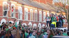 Picture - Kevin Scott / Belfast Telegraph  Belfast , UK - March 17, Pictured is The scenes in the Holyland on St Patrick's day on March 17, 2016  Belfast, Northern Ireland ( Photo by Kevin Scott / Belfast Telegraph )