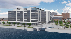 An artist's impression of the new Belfast offices of insurance giant Allstate