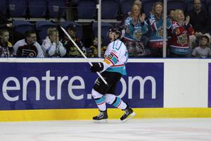 Belfast Giants players celebrate their victory