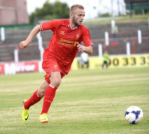 Pre season friendly match between Glentoran and Liverpool under 21's at The Oval Belfast. Liverpools Ryan McLaughlin