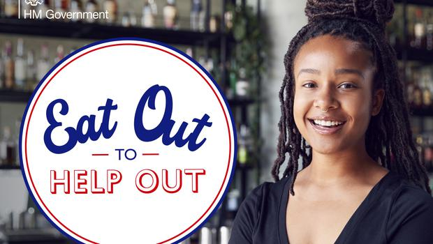 "Customers are advised to look for the ""Eat Out to Help Out"" logo"