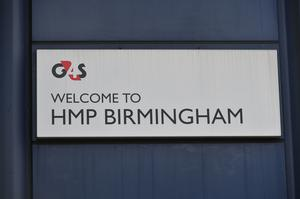 A G4S sign outside HMP Birmingham (Ben Birchall/PA)