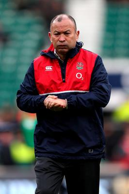 Silence: Eddie Jones says he'll take a back seat this week