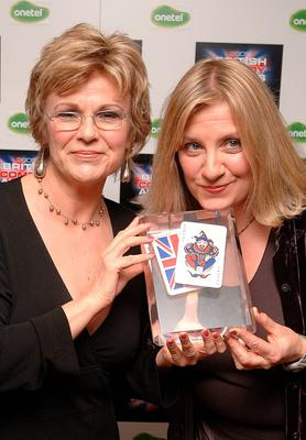 Victoria  Wood (right) and Julie Walters with the lifetime achievement award they received at the Bristish Comedy Awards 2005. Photo credit: Ian West/PA Wire