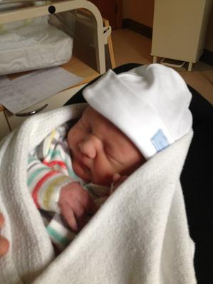 Baby Regristrar pic. Ruth and Richard Faulkner are celebrating the birth of their son Harry.