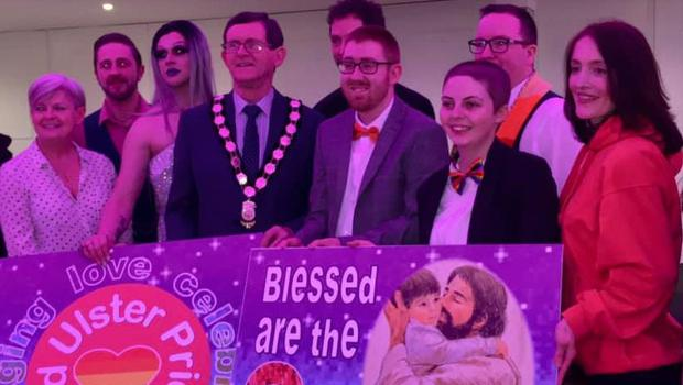 The Mid Ulster Gay Pride launch in Cookstown. Credit: Mid Ulster Pride