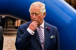 The Prince of Wales blowing a whistle during an engagement at Palace Demense in Co. Armagh. PRESS ASSOCIATION Photo. Picture date: Wednesday May 22, 2019. See PA story ROYAL Tour. Photo credit should read: Liam McBurney/PA Wire
