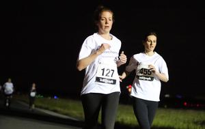 Press Eye - Belfast -  Northern Ireland - 24th June 2015 - Siobhan Kearney with other athletes take part in the first ever Grant Thornton Runway Run at Belfast City Airport this evening. Picture by Kelvin Boyes / Press Eye.