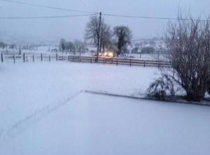 Blanket of snow outside Claudy. Pic Stacey Witherow 13/01/2015