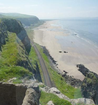 Mussendun: Peering west toward Downhill Beach from Mussendun Temple. Submitted by Barry Grayson, Los Angeles, CA.