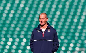 LONDON, ENGLAND - SEPTEMBER 17:  Stuart Lancaster Head Coach of England looks on during the England Captain's Run on the eve of the opening Rugby World Cup 2015 match against Fiji at Twickenham Stadium on September 17, 2015 in London, England.  (Photo by David Rogers/Getty Images)