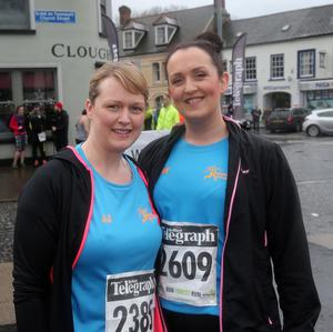 Press Eye - Kilbroney Park - Belfast Telegraph Run Forest Run Race - 2nd January 2016 Photograph By Declan Roughan  The 5th Born2Run Belfast Telegraph Run Forest Run at Kilbroney Park, Rostrevor, Co Down.  (L-R) Julie johnston from Rathfriland and Sarah Winters from Rathfriland