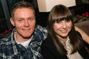 Mark Johnson and Sarah Black at The Lonely Poet, Belfast.