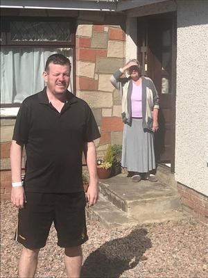 Niall Murphy at his mother's home after being discharged from hospital. Credit: The Detail