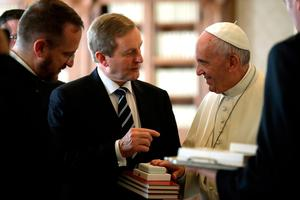 Pope Francis talks with Taoiseach Enda Kenny during a private audience on November 28, 2016 at the Vatican.  / AFP PHOTO / POOL / Alessandra TarantinoALESSANDRA TARANTINO/AFP/Getty Images