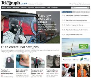 BelfastTelegraph.co.uk attracted 3.3 million unique users in January