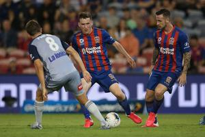 Bobby Burns has now started 11 league games in a row for Newcastle Jets.