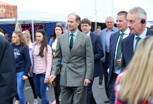 Prince Edward, Earl of Wessex is pictured at Balmoral Show this afternoon. Photo by Kelvin Boyes / Press Eye.