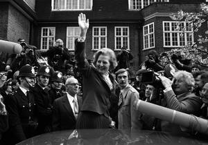 File photo dated 04/05/1979 of Conservative Leader Margaret Thatcher ariving at Tory Headquarters in London. Baroness Thatcher died this morning following a stroke, her spokesman Lord Bell said. PRESS ASSOCIATION Photo. Issue date: Monday April 8, 2013. See PA story DEATH Thatcher. Photo credit should read: PA/PA Wire