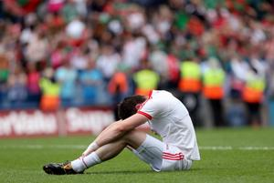 Tyrone's Conor Clarke dejected at the final whistle