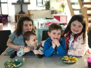 The broadcaster's four children Clara, Naoise, Oisin and Sadhbh