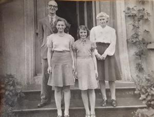VE - Molly Blair (10) (front right) with her elder sister Joan and parents, Drummond and Kathleen Adair