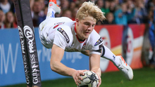 Let's twist again: Rob Lyttle goes over for his second try on his Ulster debut against the Dragons at Kingspan