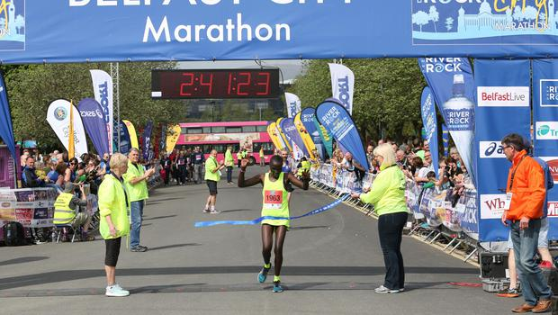 Caroline Jepchirchir pictured at the marathon. Picture: Philip Magowan / PressEye