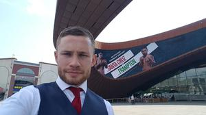 Carl Frampton at Barclay Center where Santa Cruz fight is