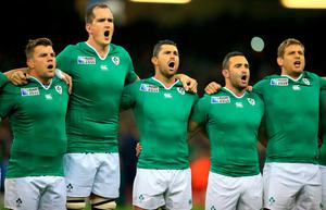 The Irish rugby team has its own national anthem played ahead of games. Mike Egerton/PA Wire.