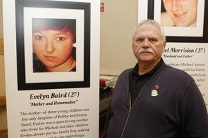 21/10/18 PACEMAKER PRESS An exhibition was opened to commerate the victims of the Shankill Bombing in the Methodist Church on the shankill Road. Charlie Butler's neice Evelyn Baird died in the bombing. PICTURE MATT BOHILL PACEMAKER PRESS