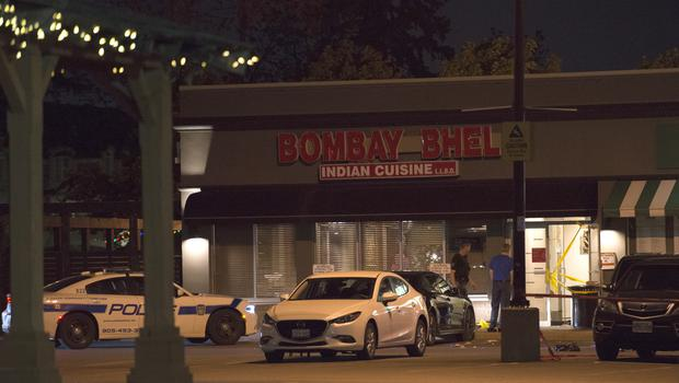 The explosion happened at the Bombay Bhel restaurant (Doug Ives/The Canadian Press via AP)