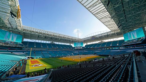 Hard Rock Stadium, Miami Gardens, Florida - the venue that will host this year's Super Bowl