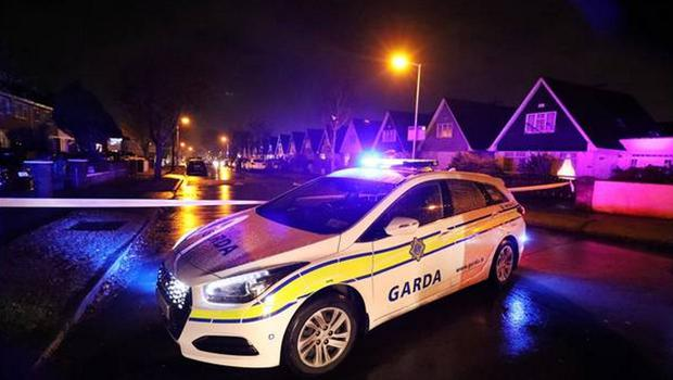 The scene of the shooting on Clonshaugh Avenue in Coolock on November 24. Pic: Steve Humphreys