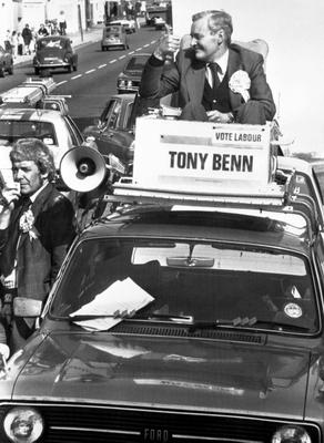 File photo dated 18/04/79 of Tony Benn campaigning in Bristol. The veteran politician died at home today at the age of 88, his family said in a statement.     PRESS ASSOCIATION Photo. Issue date: Friday March 14, 2014. See PA story DEATH Benn. Photo credit should read: Bristol Evening Post/PA Wire