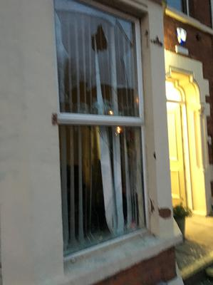 Pacemaker Press Belfast 14-04-2016: A man in his 40s has been arrested after the windows of a suicide prevention charity's offices in north Belfast were smashed during an attack. The incident happened at the offices of Public Initiative For Prevention of Suicide and Self Harm (PIPS) on the Antrim Road on Wednesday night. Picture By: Pacemaker.
