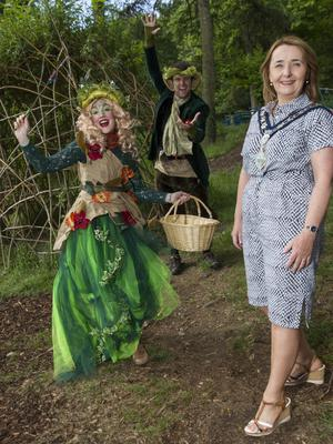 y, Mourne and Down District Council Chair, Councillor Roisin Mulgrew enjoying the Footsteps in the Forest Festival. Thousands of visitors from across Ireland flocked to Slieve Gullion on Saturday and Sunday for a packed weekend of family fun and adventure as part of this year's Footsteps in the Forest festival. Featuring a host of make-believe characters, storytelling and a bustling schedule of activities, the event kicked off the first of five free summer events in the all-new Giant Adventures programme for 2017, a major series of family festivals organised by Newry, Mourne and Down District Council to showcase the region's breath-taking mountains, coastline and mythical stories. Supported by Tourism NI, the Giant Adventures programme includes four additional standout events – Strangford Lough Skiffie Festival on 22nd and 23rd July, Festival of Flight on 4th and 5th August, Wake the Giant on 26th and 27th August and City of Merchants on 30th September and 1st October – a new festival this year which reflects on and celebrates the rich maritime and industrial heritage of Newry. For more information, visit www.ringofgullion.org or contact the Festival Office on at 028 3031 3170.