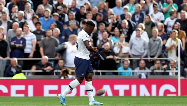 Serge Aurier was sent off for the hosts (Yui Mok/PA)
