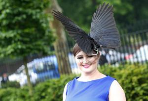Racegoer Polly Pearce from Hampshire during Ladies' Day of the Royal Ascot meeting at Ascot Racecourse, Berkshire. PRESS ASSOCIATION Photo. Picture date: Thursday June 20, 2013. See PA story RACING Ascot. Photo credit should read: Steve Parsons/PA Wire