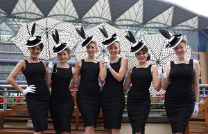 The Tootsie Rollers during Ladies' Day of the Royal Ascot meeting at Ascot Racecourse, Berkshire. PRESS ASSOCIATION Photo. Picture date: Thursday June 20, 2013. See PA story RACING Ascot. Photo credit should read: Steve Parsons/PA Wire