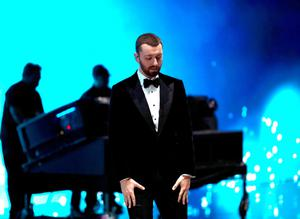 HOLLYWOOD, CA - FEBRUARY 28:  Recording artist Sam Smith performs onstage at the 88th Annual Academy Awards at Hollywood & Highland Center on February 27, 2016 in Hollywood, California.  (Photo by Christopher Polk/Getty Images)