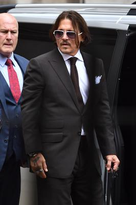 Johnny Depp at the High Court (Dominic Lipinski/PA)