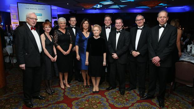 Guests from Fold and Helm Housing Associations at the Institute of Directors NI Annual Dinner at the Europa Hotel on Thursday night. Sponsored by Bank of Ireland and Arthur Cox, the event is the highlight of the local business calendar and was attended by over 250 people.  Picture by Kelvin Boyes / Press Eye.
