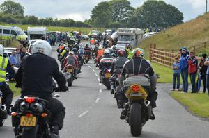One final lap of  lap of John Hinds' favourite Tandragee 100 circuit in Co Armagh.  Photo Arthur Allison/Pacemaker Press